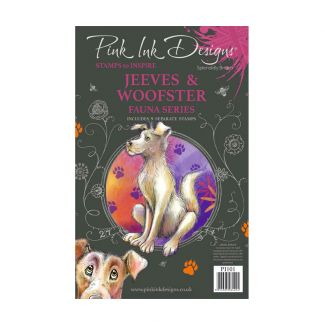Pink Ink Designs Jeeves & Woofster A5 Clear Stamp Set