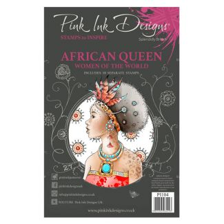 Pink Ink Designs African Queen A5 Clear Stamp Set
