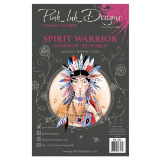 Pink Ink Designs Spirit Warrior A5 Clear Stamp Set