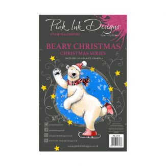 Pink Ink Designs A5 Clear Stamp - Beary Christmas