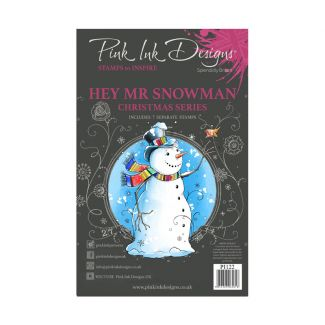Pink Ink Designs A5 Clear Stamp - Hey Mr Snowman