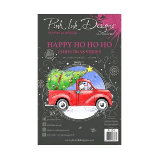 Pink Ink Designs A5 Clear Stamp - Happy Ho Ho Ho