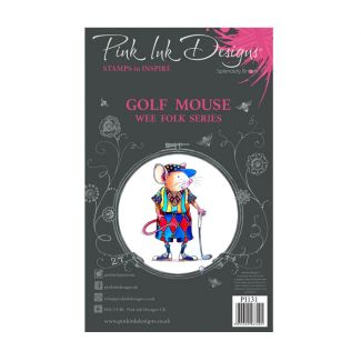 Pink Ink Designs Golf Mouse A7 Clear Stamp Set