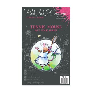 Pink Ink Designs Tennis Mouse A7 Clear Stamp Set
