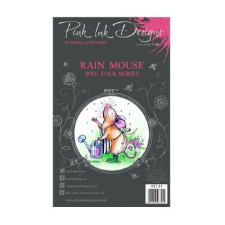 Pink Ink Designs Rain Mouse A7 Clear Stamp Set