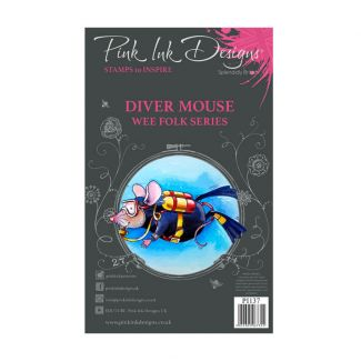 Pink Ink Designs Diver Mouse A7 Clear Stamp Set