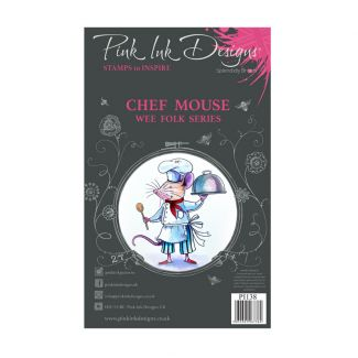 Pink Ink Designs Chef Mouse A7 Clear Stamp Set