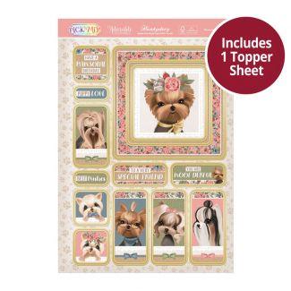 Pick 'N' Mix Topper Sheet - Pawsome Yorkies