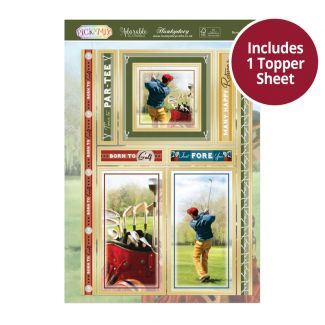 Pick 'n' Mix Topper Sheet - Born to Golf