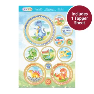 Pick 'n' Mix Topper Sheet - Dinotopia