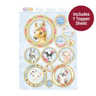 Pick 'n' Mix Topper Sheet - Farmyard Friends