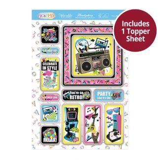 Pick 'n' Mix Topper Sheet - I Love the 80s!