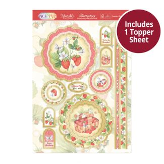 Pick 'n' Mix Topper Sheet - Sweetest Strawberries