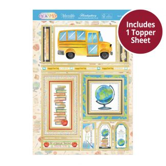 Pick 'N' Mix Topper Sheet - Back to School