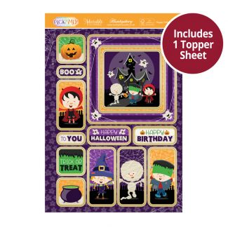 Pick 'N' Mix Topper Sheet - Happy Halloween