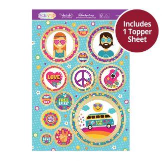 Pick 'N' Mix Topper Sheet - Peace & Love