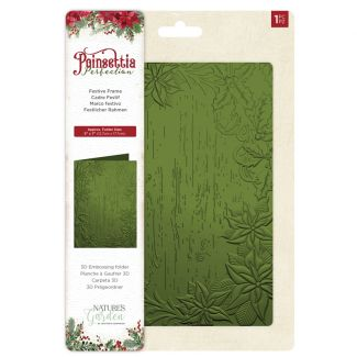 Poinsettia Perfection - 3D Embossing - Festive Frame