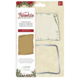 Poinsettia Perfection - Stamp & Die - Traditional Scroll
