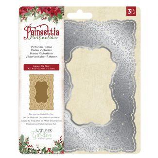 Poinsettia Perfection - Metal Die - Victorian Frame
