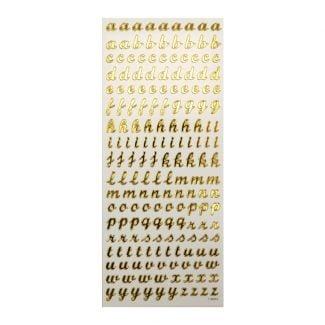 Peel-Offs - Lower Case Gold