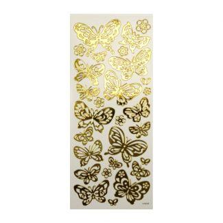 Peel-Offs - Butterflies Gold