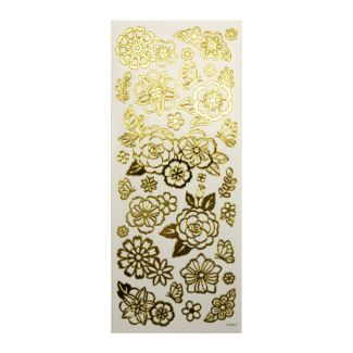 Peel-Offs - Flowers Gold