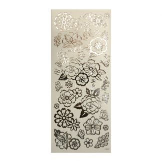 Peel-Offs - Flowers Silver