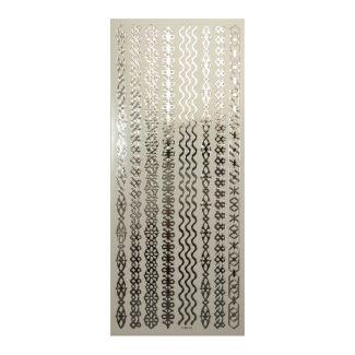 Peel-Offs - Borders Silver