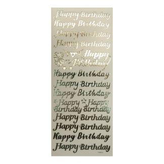 Peel-Offs - Happy Birthday Silver