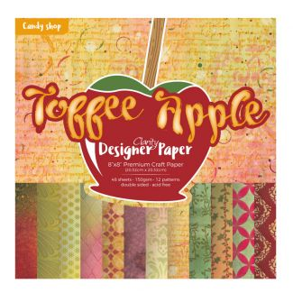 "Toffee Apple 8"" x 8"" Clarity Designer Paper"