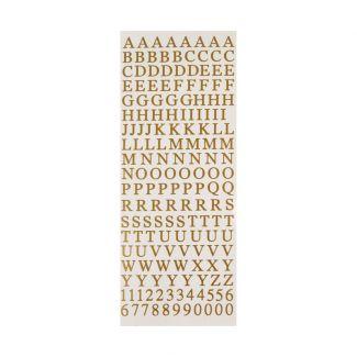 Peel-Offs - Alphabet Upper Case - Gold