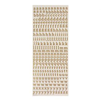 Peel-Offs - Alphabet Lower Case - Gold
