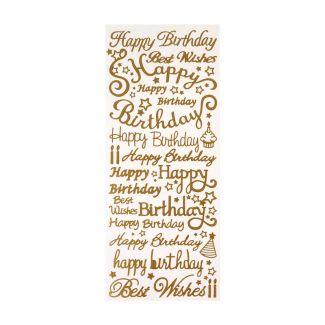 Peel-Offs - Happy Birthday - Gold