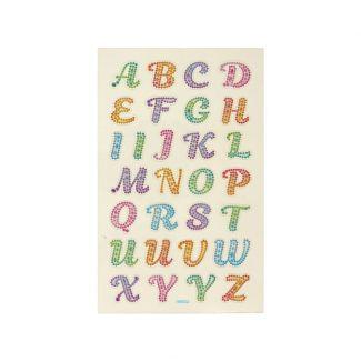 Signature Crystal Stickers - Alphabet