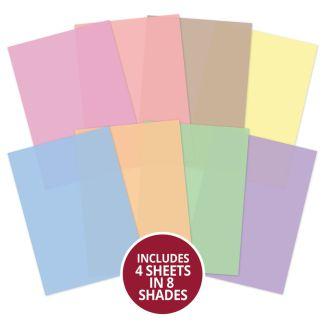 Printed Parchment - Pretty Pastel Core Colourways
