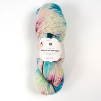 Hand-Dyed Happiness 100g - Ecru-Blue