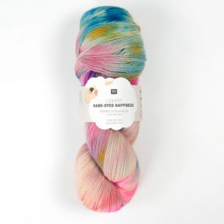 Hand-Dyed Happiness  100g - Pink-Blue