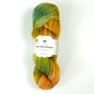 Hand-Dyed Happiness 100g - Yellow-Green