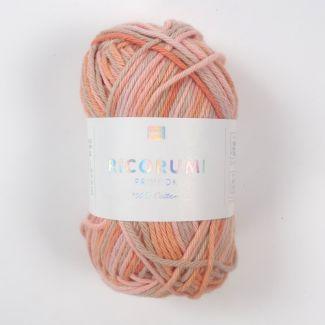 Ricorumi Prints DK Yarn 25g - Salmon Mix