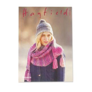 Hayfield Pattern - Textured Hat & Scarf