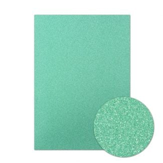 Diamond Sparkles Shimmer Card - Jade Green