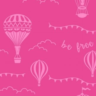 Stuart Hillard Hot Air Balloon Collection - Pink Balloons