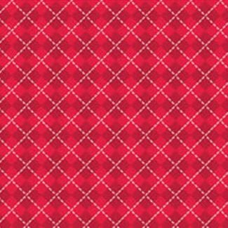 Stuart Hillard's Nutcracker Fabrics - Harlequin - Red