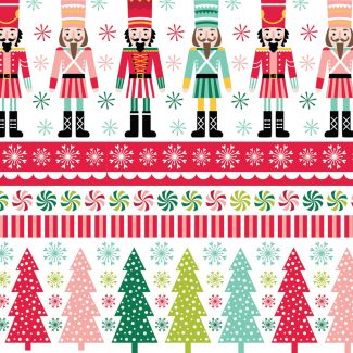 Stuart Hillard's Nutcracker Fabrics - Nutcracker Border Multi