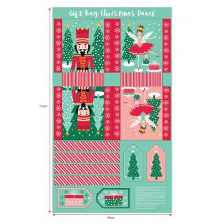 Stuart Hillard's Nutcracker Fabrics - Gift Bag Panel