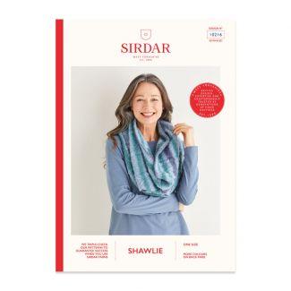 Sirdar Shawlie pattern - single-shaded snood