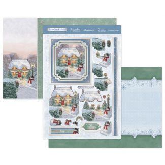 Christmas Cottage Luxury Topper Set
