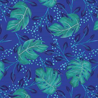 Sarah Payne - Birds of Paradise - Jungle Flowers Turquoise