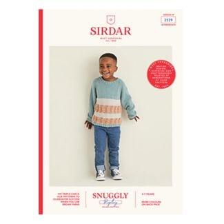 Kids Stitch & Stripes Sweater in Snuggly Replay DK