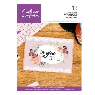 Clear Acrylic Quirky Sentiment Stamps - Be You Tiful